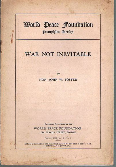 War Not Inevitable