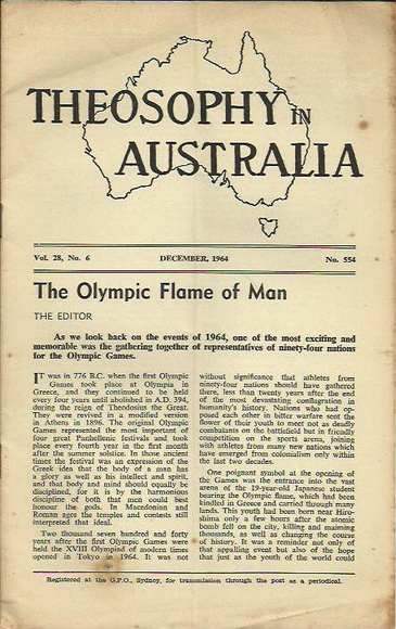 Theosophy in Australia, Volume 28, 1964 - 1 issue