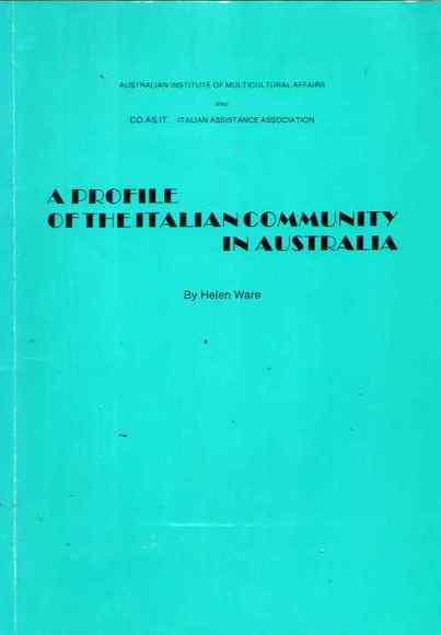 A Profile of the Italian Community in Australia