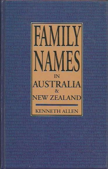 Family Names in Australia and New Zealand