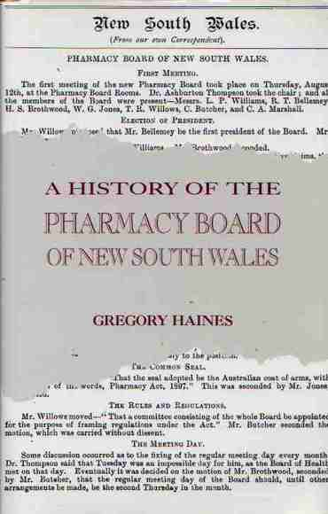 A History of the Pharmacy Board of New South Wales