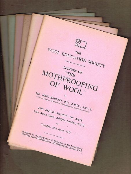 The Wool Education Society. Six Booklets dated 1952-54