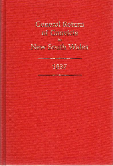 General Return of Convicts in New South Wales 1837