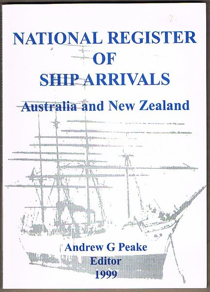 National Register of Ship Arrivals: Australia and New Zealand