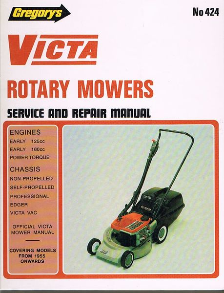Gregory's Victa Rotary Mowers Service and Repair Manual