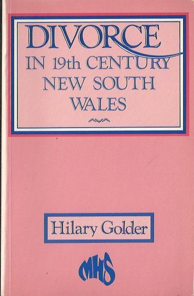 Divorce in 19th Century New South Wales