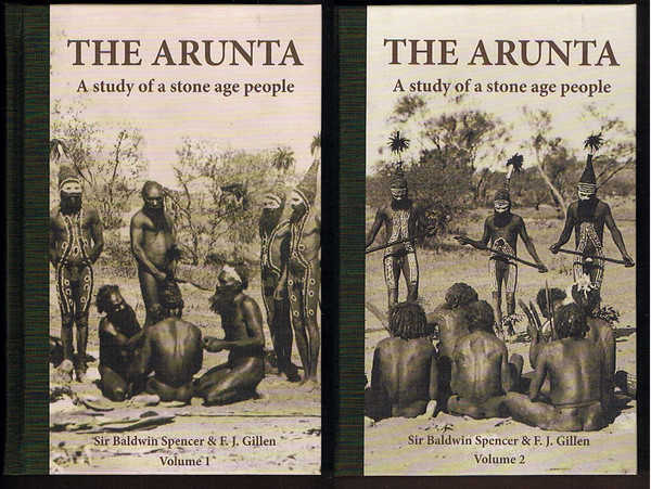 The Arunta: A Study of a Stone Age People. 2 Facsimile Volumes in Cardboard Slipcase