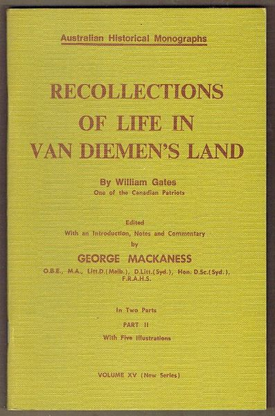 Recollections of Life in Van Diemen's Land: Part II