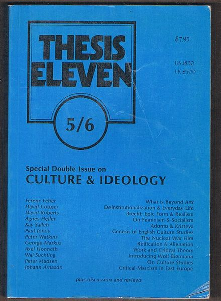 Thesis Eleven, No. 5/6: Double Issue on Intellectuals