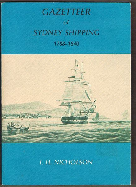 Gazetteer of Sydney Shipping 1788-1840