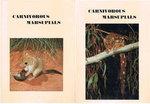 Carnivorous Marsupials Volumes 1 and 2